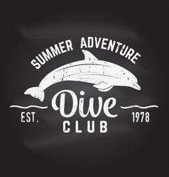 Dive club summer adventure vector