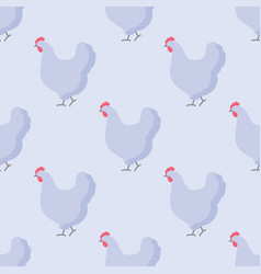 farm bird flat seamless pattern vector image