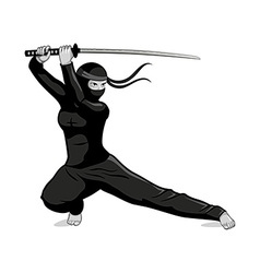 Female ninja vector