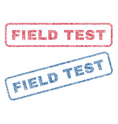 Field test textile stamps vector