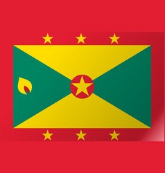 Flag grenada flat icon vector