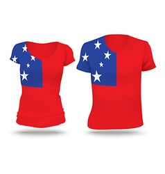 Flag shirt design of Samoa vector