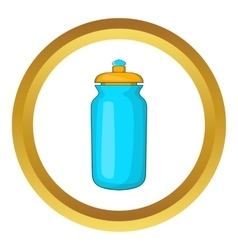 Flask for water icon vector