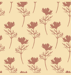flowers seamless pattern cute botanical vector image