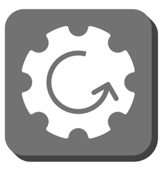 Gear Rotation Rounded Square Icon vector