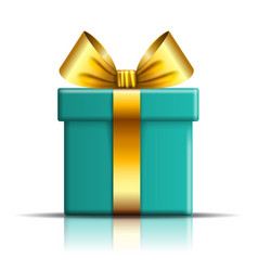 gift box icon surprise present template gold vector image