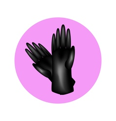 Gloves in circle vector