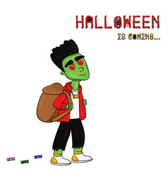 halloween is coming with fr vector image