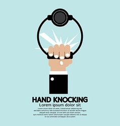 Hand knocking vector