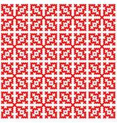 hmong pattern seamless texture background red draw vector image
