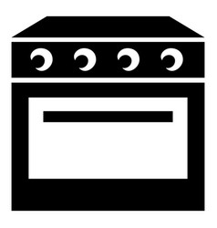 home oven icon simple style vector image