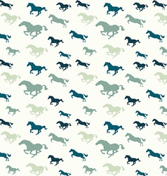 Horses blue pattern vector