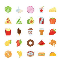 Ingredients icons pack vector
