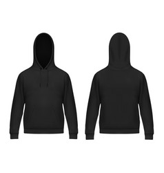 isolated 3d men hoody or realistic man hoodie vector image