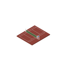 Isolated tennis isometric volleyball vector
