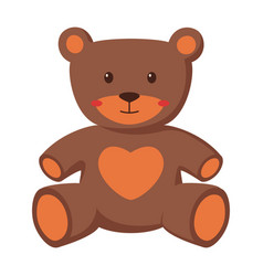 kids toy cute bear isolated vector image
