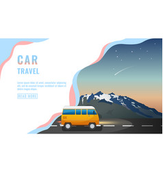 landing page design banner with car travel vector image