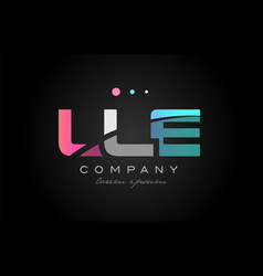 lle l l e three letter logo icon design vector image