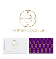 logo f and b monogram fashion beauty pattern vector image