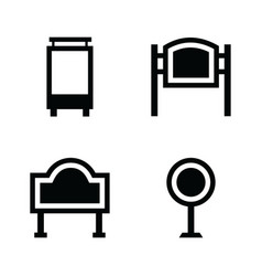 Marketing stands icons vector