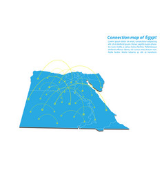 Modern of egypt map connections network design vector