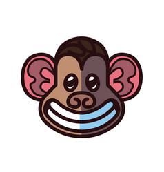 Monkey head logo template vector