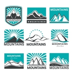 mountains emblems vector image