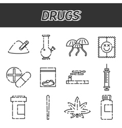 Narcotic drugs icon vector