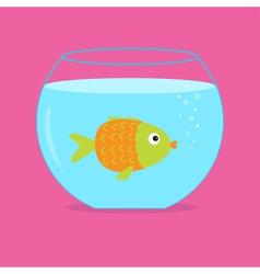 Orange fish in the aquarium Card vector