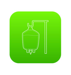 Package for blood transfusion icon green vector