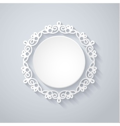 paper decor with shadow on white vector image