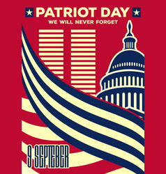 Patriot day vintage banner or poster vector