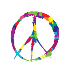 peace sign peace icon love peace label vector image
