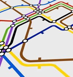 Perspective background of metro scheme vector image