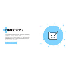 Prototyping line icon simple icon banner outline vector