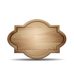 realistic wooden signboard vector image