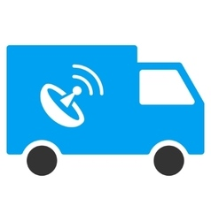 Remote Control Van Flat Icon vector