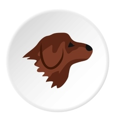 Retriever dog icon flat style vector