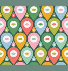 retro funny pattern for holidays vector image