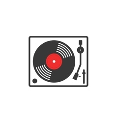 Retro vinyl music player icon vector image