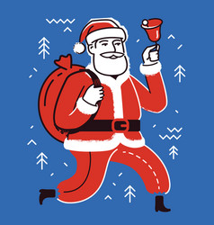 santa claus christmas concept vector image