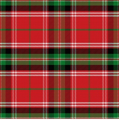 seamless pattern Scottish Stewart tartan vector image