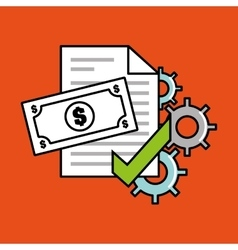Security money investment flat vector