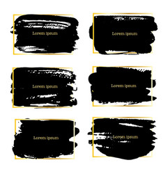set of brush stroke frame vector image