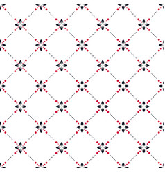simple abstract floral pattern tile design vector image