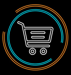 simple shopping cart thin line icon vector image