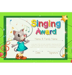 Certificate template for drama award royalty free vector singing award certificate template vector image yadclub