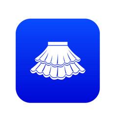 Skirt icon digital blue vector