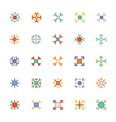 Snowflakes Colored Icons 4 vector image