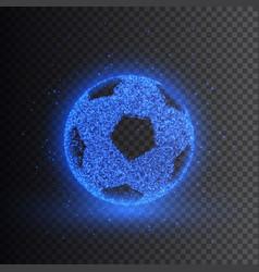Soccer ball transparent light effect vector